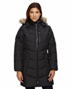 Embroidered Ash City - North End Ladies' Boreal Down Jacket with Faux Fur Trim