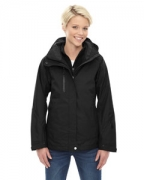 Embroidered Ash City - North End Ladies' Caprice 3-in-1 Jacket with Soft Shell Liner
