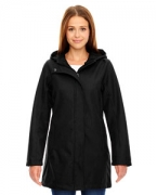 Logo Ash City - North End Ladies' City Textured Three-Layer Fleece Bonded Soft Shell Jacket