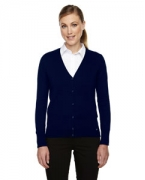 Embroidered Ash City - North End Ladies' Dollis Soft Touch Cardigan