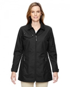 Logo Ash City - North End Ladies' Excursion Ambassador Lightweight Jacket with Fold Down Collar