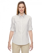 Monogrammed Ash City - North End Ladies' Excursion F.B.C. Textured Performance Shirt
