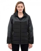 Embroidered Ash City - North End Ladies' Excursion Meridian Insulated Jacket with Melange Print