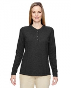Custom Logo Ash City - North End Ladies' Excursion Nomad Performance Waffle Henley