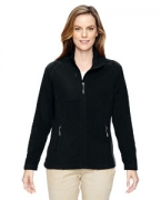 Personalized Ash City - North End Ladies' Excursion Trail Fabric-Block Fleece Jacket