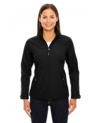 Logo Ash City - North End Ladies' Forecast Three-Layer Light Bonded Travel Soft Shell Jacket