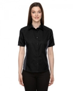 Custom Logo Ash City - North End Ladies' Fuse Colorblock Twill Shirt