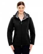 Logo Ash City - North End Ladies' Glacier Insulated Three-Layer Fleece Bonded Soft Shell Jacket with Deta