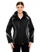 Logo Ash City - North End Ladies' Height 3-in-1 Jacket with Insulated Liner
