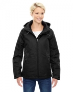 Embroidered Ash City - North End Ladies' Linear Insulated Jacket with Print