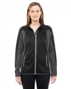 Logo Ash City - North End Ladies' Motion Interactive ColorBlock Performance Fleece Jacket