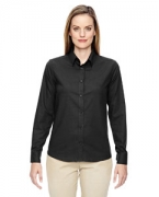 Logo Ash City - North End Ladies' Paramount Wrinkle-Resistant Cotton Blend Twill Checkered Shirt