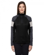 Custom Logo Ash City - North End Ladies' Quick Performance Interlock Half-Zip Top