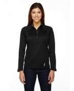 Customized Ash City - North End Ladies' Radar Half-Zip Performance Long-Sleeve Top