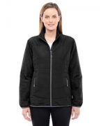 Embroidered Ash City - North End Ladies' Resolve Interactive Insulated Packable Jacket