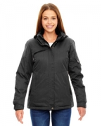 Logo Ash City - North End Ladies' Rivet Textured Twill Insulated Jacket