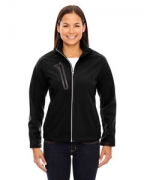 Personalized Ash City - North End Ladies' Terrain Colorblock Soft Shell with Embossed Print