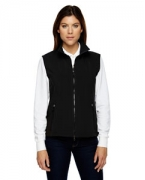 Customized Ash City - North End Ladies' Three-Layer Light Bonded Performance Soft Shell Vest
