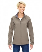 Logo Ash City - North End Ladies' Three-Layer Light Bonded Soft Shell Jacket