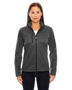 Logo Ash City - North End Ladies' Trace Printed Fleece Jacket