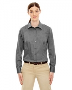 Promotional Ash City - North End Ladies' Yarn-Dyed Wrinkle-Resistant Dobby Shirt