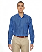 Promotional Ash City - North End Men's Align Wrinkle-Resistant Cotton Blend Dobby Vertical Striped Shirt