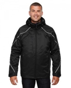 Embroidered Ash City - North End Men's Angle 3-in-1 Jacket with Bonded Fleece Liner