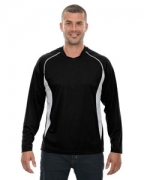 Personalized Ash City - North End Men's Athletic Long-Sleeve Sport Top