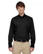 Logo Ash City - North End Men's Establish Wrinkle-Resistant Cotton Blend Dobby Stripe Shirt