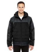 Customized Ash City - North End Men's Excursion Meridian Insulated Jacket with Melange Print