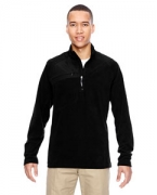Logo Ash City - North End Men's Excursion Trail Fabric-Block Fleece Half-Zip