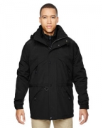 Personalized Ash City - North End Men's 3-in-1 Parka with Dobby Trim