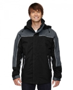 Embroidered Ash City - North End Men's 3-in-1 Seam-Sealed Mid-Length Jacket with Piping