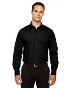 Personalized Ash City - North End Men's Luster Wrinkle-Resistant Cotton Blend Poplin Taped Shirt