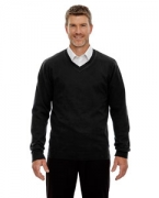 Custom Logo Ash City - North End Men's Merton Soft Touch V-Neck Sweater