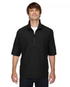 Custom Embroidered Ash City - North End Men's MICRO Plus Lined Short-Sleeve Wind Shirt with Teflon