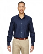 Embroidered Ash City - North End Men's Paramount Wrinkle-Resistant Cotton Blend Twill Checkered Shirt