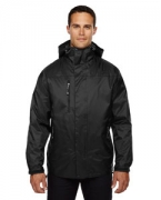 Monogrammed Ash City - North End Men's Performance 3-in-1 Seam-Sealed Hooded Jacket