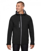 Monogrammed Ash City - North End Men's Prospect Two-Layer Fleece Bonded Soft Shell Hooded Jacket