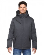 Monogrammed Ash City - North End Men's Rivet Textured Twill Insulated Jacket