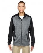 Custom Embroidered Ash City - North End Men's Shuffle Performance Mlange Interlock Jacket
