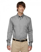 Logo Ash City - North End Men's Yarn-Dyed Wrinkle-Resistant Dobby Shirt