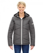 Custom Logo Ash City - North End Sport Blue Ladies' Avant Tech Mlange Insulated Jacket with Heat Reflect Technol