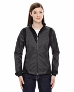 Promotional Ash City - North End Sport Blue Ladies' Commute Three-Layer Light Bonded Two-Tone Soft Shell Jacket