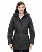 Monogrammed Ash City - North End Sport Blue Ladies' Enroute Textured Insulated Jacket with Heat Reflect Technolo