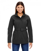 Embroidered Ash City - North End Sport Blue Ladies' Skyscape Three-Layer Textured Two-Tone Soft Shell Jacket