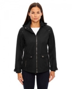 Embroidered Ash City - North End Sport Blue Ladies Uptown Three-Layer Light Bonded City Textured Soft Shell Jacket