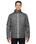 Logo Ash City - North End Sport Blue Men's Avant Tech Mlange Insulated Jacket with Heat Reflect Technolog