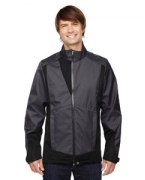 Promotional Ash City - North End Sport Blue Men's Commute Three-Layer Light Bonded Two-Tone Soft Shell Jacket wi