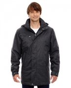 Custom Embroidered Ash City - North End Sport Blue Men's Enroute Textured Insulated Jacket with Heat Reflect Technology